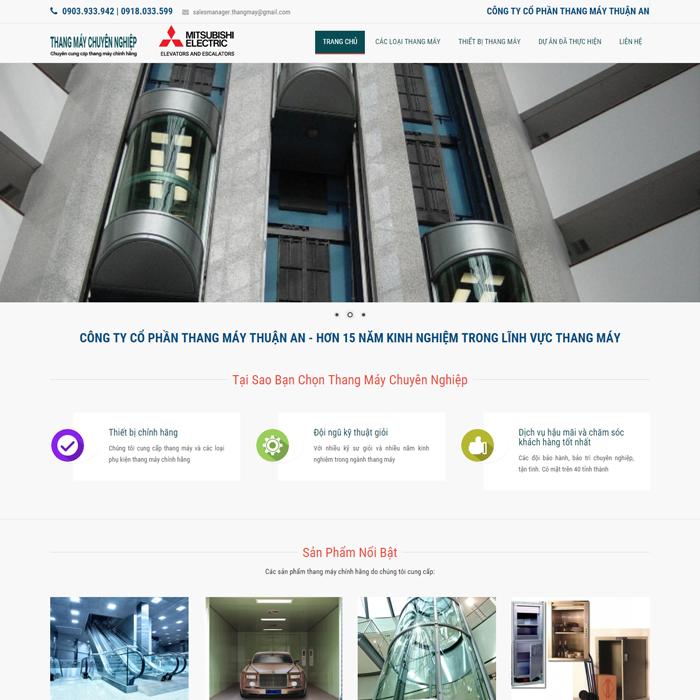 Website thang máy