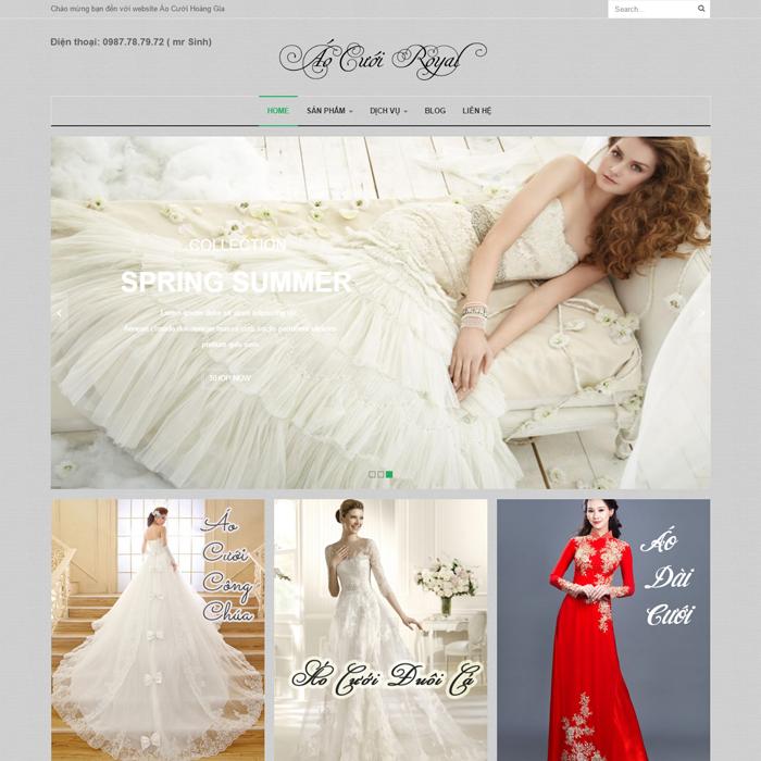 Website Áo Cưới Hoàng Gia