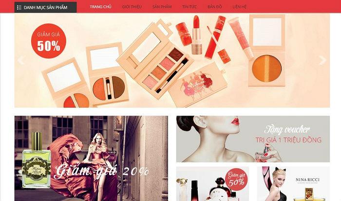 Thiết kế web bán hàng mỹ phẩm online chuyên nghiệp